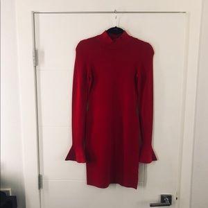 Michael Kors Flare Sleeve Body Con Mini Dress